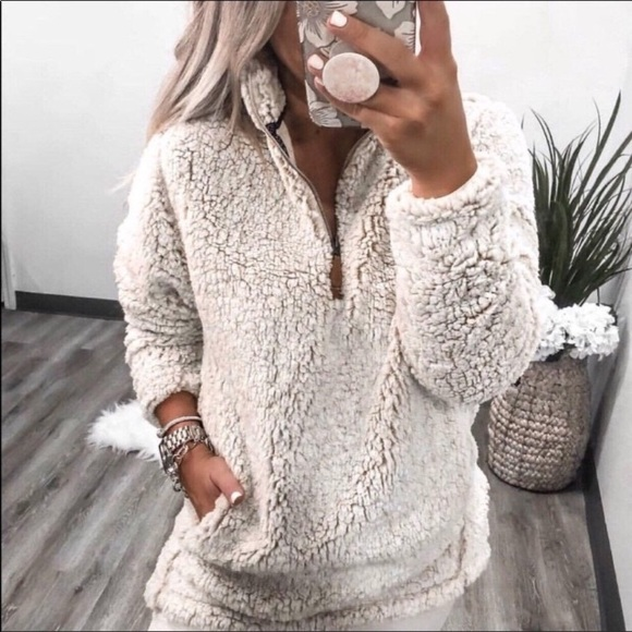 Cozy Sherpa Sweaters - •LAST ONE• Cozy Sherpa | Ivory Pullover Sweater